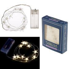LED Light String Stars battery operated fairy lights star shape 120 cm long