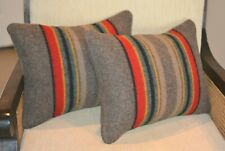 Yakima Camp Blanket wool pillow covers BROWN Mineral Umber handmade rustic decor