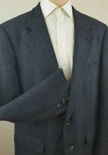 BURBERRYS Vintage Men Tweed Houndstooth 2 Button Sports Coat Size 44