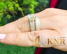 14k Oro Giallo Principessa Forever uno Moissanite Diamante Fidanzamento 3.0