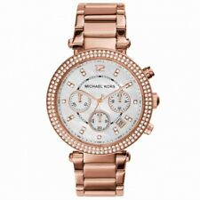 Watch Michael Kors Parker MK5491 steel rose gold with dial nacre