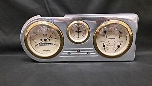 1948 1949 1950 FORD TRUCK 3 GAUGE CLUSTER GOLD