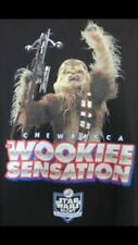 STAR WARS Night LA DODGERS Men's Black CHEWBACCA Wookie Sensation Tshirt XL