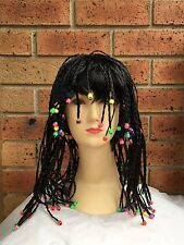 **NEW Lady black Dreadlocks Beaded Rasta wig/wigs Braided Wig With Beads