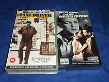 TAXI DRIVER & ON THE WATERFRONT - 2 SEALED VHS VIDEOS MARLON BRANDO DE NIRO