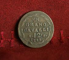 Naples Sicily Italian States 1793 Grano 12 Cavalli Copper World Coin Italy