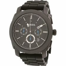 Fossil Men's Machine FS4487 Black Silicone Analog Quartz Fashion Watch