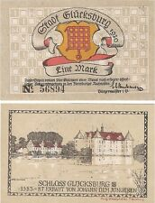 Germany 1 Mark 1920 Notgeld Glucksburg UNC Uncirculated Banknote