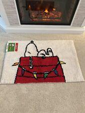 "Peanuts Snoopy Christmas Holiday Rug Bath Rug 30x20"""