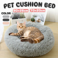 Dog Pet Cat Calming Bed Beds Large Mat Comfy Puppy Fluffy Donut Cushion Plus