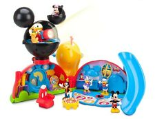 NIB DISNEY Junior Mickey Mouse Clubhouse Deluxe Playset Lights Sounds Figures