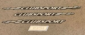 HSV VT SERIES 1 ' CLUBSPORT ' R8 LETTERING DECAL BADGES SET OF 3 + 195i HSV NEW
