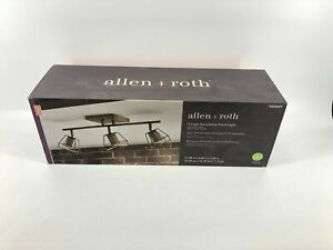 Allen + Roth Astoria 3-Light Decorative Track Light, Soft Gold Finish