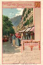 Lithographie Künstlerkarten aus Europa