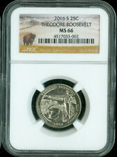 2016-S THEODORE ROOSEVELT QUARTER NGC MS66 PARKS *S