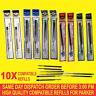 10X Parker Kompatibel Nachfüllpack für Kugelschreiber Medium Schwarz/Blau/Rot /