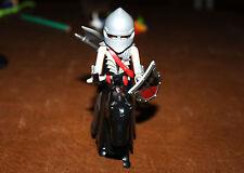 Playmobil personnage chevalier noir barbare Moyen Âge ref cc