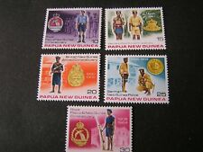 PAPUA NEW GUINEA, SCOTT # 486+490(5) 1978 COMPLETE SET CONSTABULARY ISSUE MNH