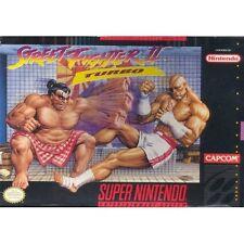 Street Figher II Turbo Super Nintendo Capcom For Super Nintendo SNES 2E