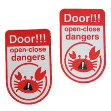 Door Window open close caution warning sign Crab JDM stickers decals car baby R