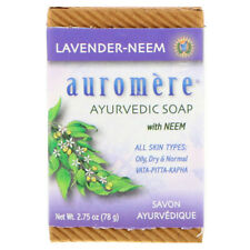AUROMERE LAVENDER - NEEM SOAP ALL SKIN TYPES OILY,DRY,NORMAL 2.75 OZ SEALED