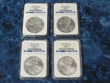 2007 – 2010 Silver American Eagles Early Releases Blue Label – NGC MS69s!
