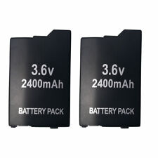 2X  BATTERY PACK FOR SONY PSP 3000 3001 3003 3004 lite  2400mAH