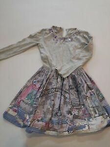 Girls Patterned Dress Monsoon 5-6 Years