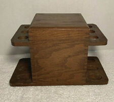 VTG Estate Find Wood 6 Pipe Stand Holder Dovetail Box Humidor