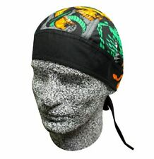 Green Black Grey Snakes Skulls Flames Headwrap Sweatband Durag Capsmith Biker
