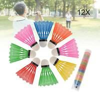 12 X Colorful Shuttlecocks Badminton Foam Balls Leisure Sport Games AV