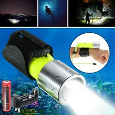 Diving Torch 6000LM Elfeland T6 LED Scuba Flashlight Underwater 60M Waterproof