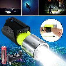 Diving Torch 6000LM Elfeland T6 LED Scuba Flashlight Underwater 60M Waterproof