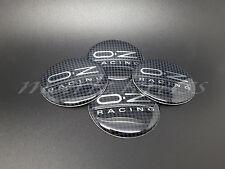 Set 4x56mm OZ Racing Roue Alliage Center 3D en forme de stickers Carbon Motif