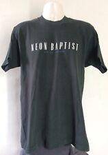 Vtg 80s Early 90s Neon Baptist T-Shirt L Johnny Dowd Alt Country Music Band