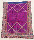 """55"""" x 42"""" Vintage Rabari Throw Embroidery Ethnic Tapestry Tribal Wall Hanging"""