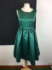 Lindy Bop Size 10 Emerald Green 1950's Rockabilly Satin Style Party Dress