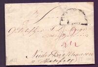 Vorphilabrief Bremen 1822 mit Thurn & Taxis Stempel (111)