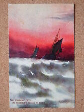R&L Postcard: M. Morris, Tuck Oilette, What are the Wild Waves Saying, Boats