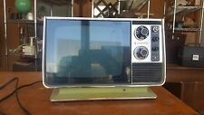 1970's Zenith Portable Vintage Retro TV H092f Avocado Green Works BW FREE SHIP
