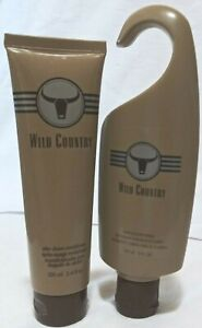 AVON After Shave Conditioner w/ Hair & Body Wash. WILD COUNTRY 2pc/New/Full size