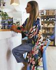 Zara Tropical Floral Print Overshirt Jacket Kimono Sz M MED 10-12 ref 2716/484