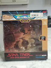 1995 Star Trek Micro Machines Limited Edition Bronze Alien Vessels Sealed New