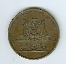 1858 Scarce BZ RAILROAD Inauguration Lyon, France to Geneva, Switzerland Medal