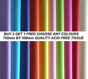 15 Free!! Tissue Paper Fabulous Quality Gift Wrap Acid Free BIO 75cm x 50cm