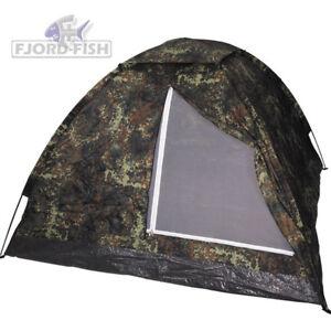 MFH Drei Personen Zelt Campingzelt Iglo Zelt BW Flecktarn Armee Outdoor Militär