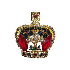 Butler and Wilson Rhinestone Crown Pin