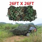 26 x 26FT Woodland Military Hide Army Camouflage Net Hunting Camo Netting 8X8M