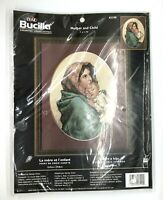 """Bucilla Counted Cross Stitch Mother and Child 43199 9"""" x 11.75"""" NIP VTG 2002"""