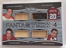 2017 Leaf Lumber Kings RICHARD BELIVEAU LAPERRIERE GOYETTE 2/7 Fantastick 4
